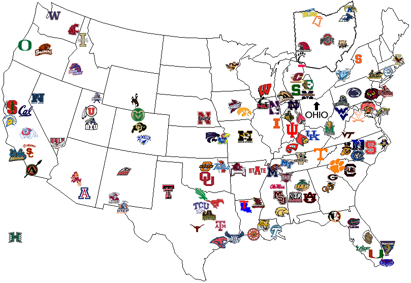 division 1 colleges football college playoff bowls